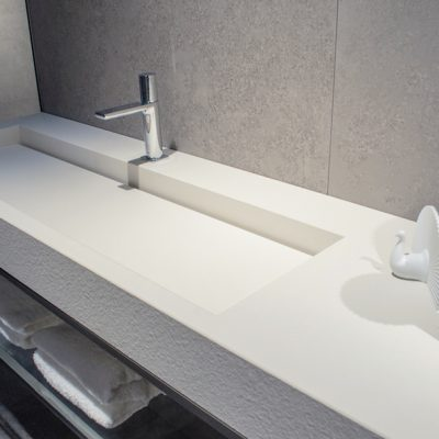 Textured surfaces in Soft White by Ceralsio.