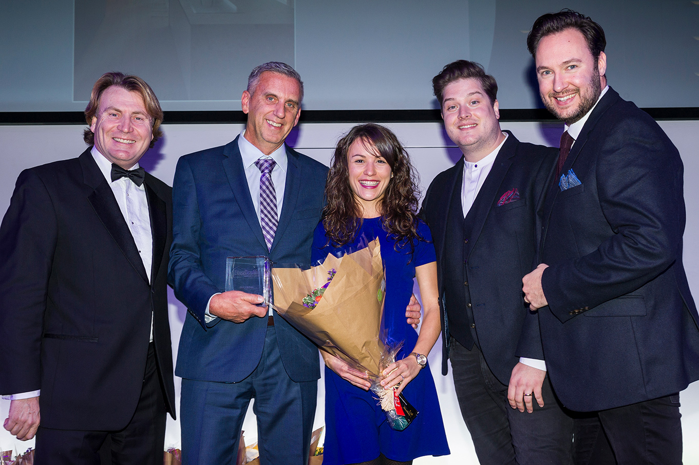 The CRL Stone team posing after winning the House Beautiful Award