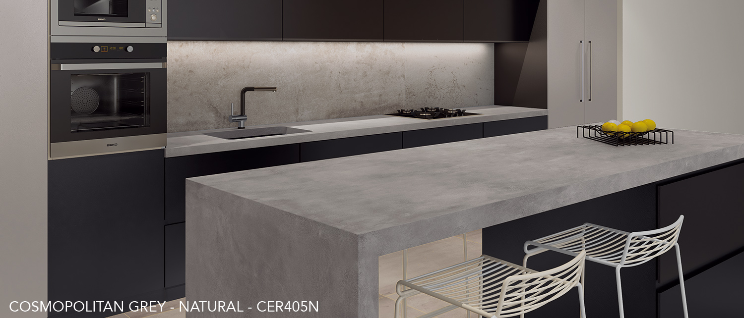 Ceralsio Cosmopolitan Grey kitchen